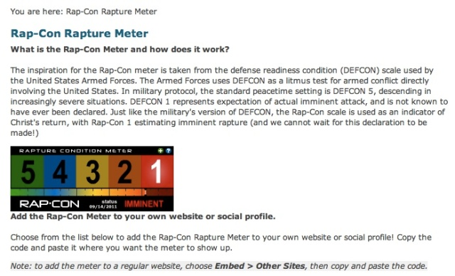 Check out the original at http://www.rap-con.com/rapture-meter